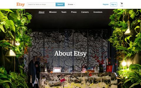 Screenshot of About Page etsy.com - About Etsy - captured June 17, 2015