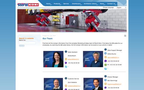 Screenshot of Team Page stertil-koni.nl - Our Team | Stertil Koni Nederland - captured Feb. 24, 2016