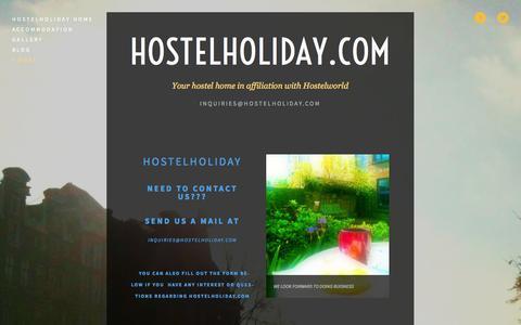 Screenshot of Contact Page hostelholiday.com - Contact — HostelHoliday.com - captured Sept. 30, 2014