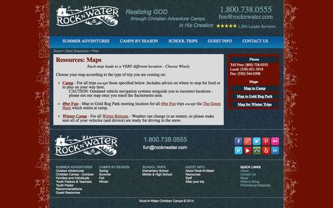 Screenshot of Maps & Directions Page rocknwater.com - Maps to Rock-N-Water meeting locations - captured Oct. 26, 2014