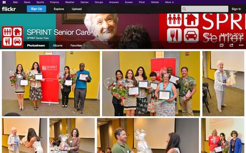 Screenshot of Flickr Page flickr.com - Flickr: SPRINT Senior Care's Photostream - captured Oct. 22, 2014