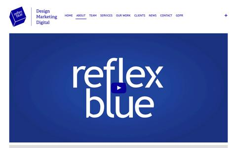 Screenshot of About Page reflexblue.co.uk - About | reflexblue | reflexblue - captured Dec. 10, 2018