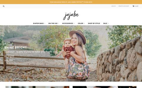 Screenshot of Home Page jujube.com - JujuBe Diaper Bags, Bags & Backpacks – JuJuBe - captured Aug. 16, 2019
