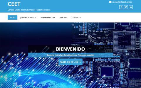Screenshot of Home Page ceet.org.es - CEET – Consejo Estatal de Estudiantes de Telecomunicación - captured Jan. 31, 2016