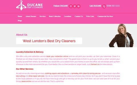 Screenshot of About Page ducanerichmond.co.uk - Domestic Dry Cleaning | Commercial Dry Cleaning | Richmond Surrey - captured Oct. 5, 2014