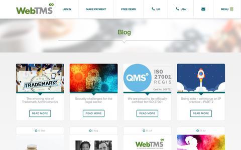Screenshot of Blog webtms.com - Blog - Web TMS - captured Sept. 20, 2019