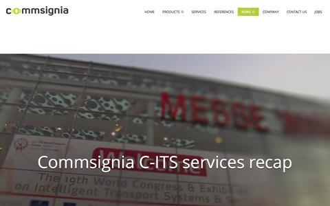 Screenshot of Press Page commsignia.com - News - Commsignia - captured Sept. 30, 2014
