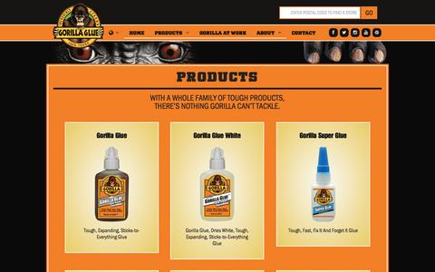 Screenshot of Products Page gorillatough.com - Products | Gorilla Glue - captured Nov. 3, 2014