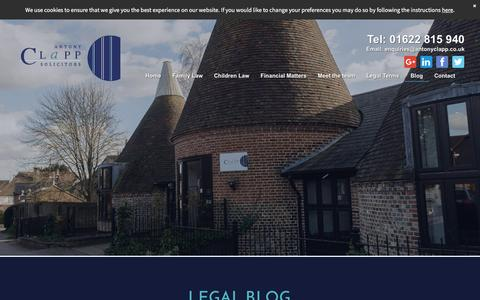 Screenshot of Blog antonyclappsolicitors.co.uk - Latest family law cases from Antony Clapp Solicitors, Maidstone - captured May 30, 2017