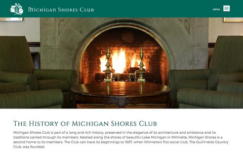 Screenshot of About Page michiganshores.org - About | Michigan Shores Club - Michigan Shores Club - captured July 7, 2018
