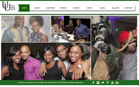 Screenshot of Home Page umuigbounite.com - UMU IGBO UNITE - captured Oct. 7, 2014