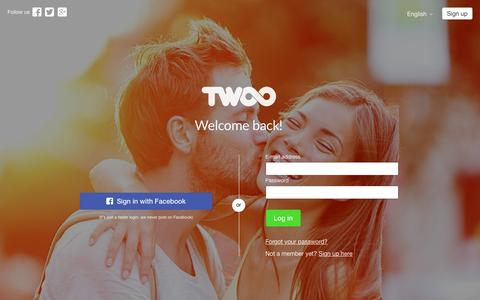 Screenshot of Login Page twoo.com - Twoo - Meet New People - captured Nov. 5, 2016