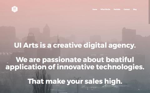 Screenshot of Home Page ui-arts.com - UI Arts Home - UI Arts - captured May 4, 2017
