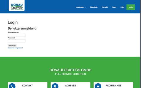 Screenshot of Login Page donaulogistics.de - Donaulogistics GmbH - - captured Nov. 24, 2016