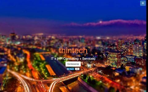 Screenshot of Home Page thintech.cl - Thintech, reclutamiento y selección de profesionales IT - captured Feb. 29, 2016