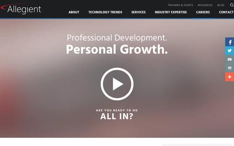 Screenshot of Jobs Page allegient.com - Allegient | Careers | Indianapolis, IN - captured Nov. 5, 2015