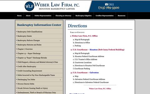 Screenshot of Maps & Directions Page weberlaw.com - Directions - Weber Law - captured Feb. 27, 2016