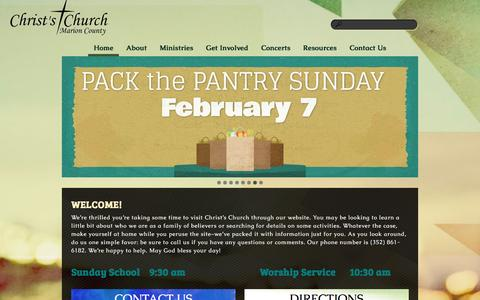 Screenshot of Home Page ccomc.org - Christs Church of Marion County - captured Jan. 27, 2016
