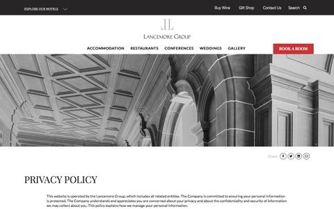 Screenshot of Privacy Page lancemore.com.au - Privacy Policy   Lancemore Group - captured Oct. 22, 2017