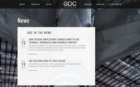 Screenshot of Press Page gdctechnics.com - News | GDC Technics - captured Nov. 2, 2014