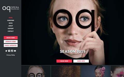 Screenshot of Home Page oq.com.au - Opera Queensland – Season 2019 - captured Nov. 15, 2018