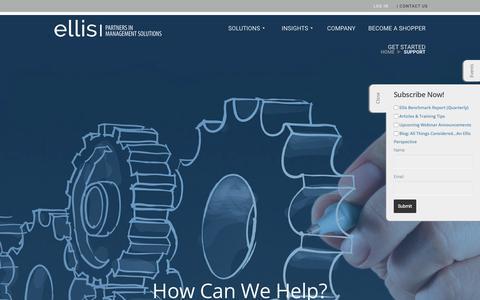 Screenshot of Contact Page epmsonline.com - Support - Ellis - captured July 1, 2017