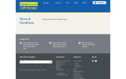 Screenshot of Terms Page storefirst.com - Terms & Conditions - captured Feb. 25, 2016