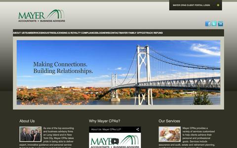 Screenshot of Home Page mayercpa.com - Long Island Accounting Firm | Business Advisors Long Island & NYC - captured Feb. 12, 2016
