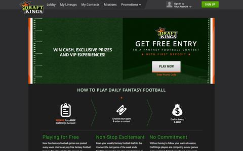 Play Fantasy Football on DraftKings