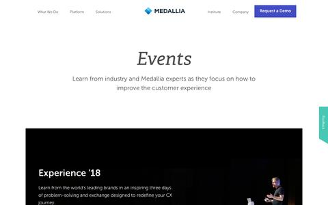 Customer Experience Management Events | Medallia