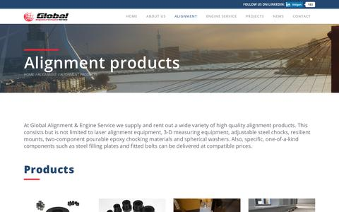 Screenshot of Products Page global-alignment.com - Alignment products - Global Alignment & Engine Service - captured Sept. 28, 2018