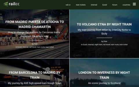 Screenshot of Blog rail.cc - Blog Rail Travel Information Worldwide | rail.cc - - captured Sept. 22, 2018