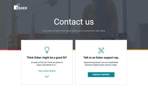 Screenshot of Landing Page esker.com - Contact Us | Document Process Automation - captured Sept. 11, 2017