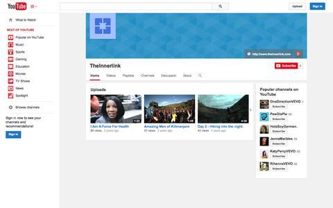 Screenshot of YouTube Page youtube.com - TheInnerlink  - YouTube - captured Nov. 3, 2014