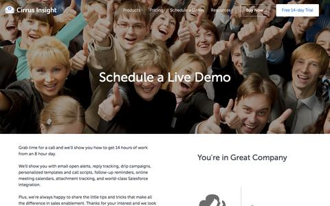 Schedule a Live Demo - Cirrus Insight