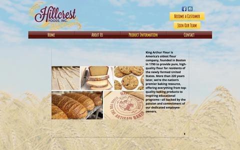 Screenshot of Services Page hillcrestfoodsne.com - hillcrest-foods-new | Product Information - captured Sept. 25, 2018