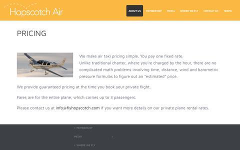 Screenshot of Pricing Page flyhopscotch.com - Pricing – Hopscotch Air - captured Dec. 15, 2018