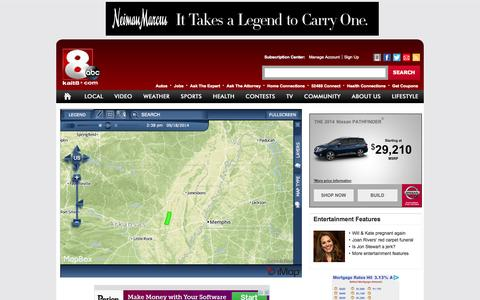 Screenshot of Maps & Directions Page kait8.com - MAP: Severe Weather Alerts - KAIT-Jonesboro, AR-News, weather, sports - captured Sept. 19, 2014