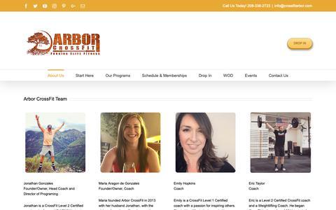 Screenshot of Team Page crossfitarbor.com - Arbor CrossFit Coaches - Arbor CrossFit Boise, ID - captured Oct. 4, 2018