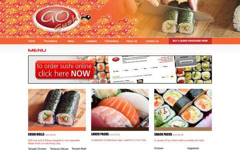 Screenshot of Menu Page gosushi.com.au - Go Sushi - Menu - captured Jan. 30, 2016