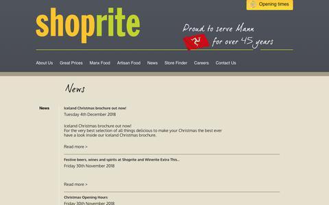 Screenshot of Press Page manxshoprite.com - News » Shoprite - captured Dec. 8, 2018