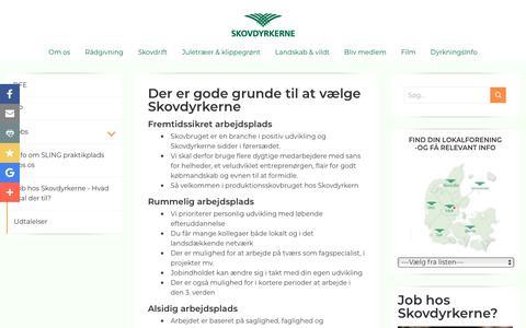 Screenshot of Jobs Page skovdyrkerne.dk - Job hos Skovdyrkerne - gode grunde til at vælge Skovdyrkerne - captured Sept. 21, 2018