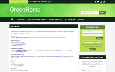 Screenshot of Contact Page scgh.com - Contact Us - SCGH - captured Oct. 3, 2014