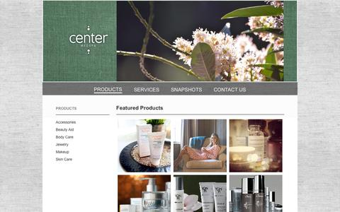 Screenshot of Products Page centermedspa.com - Skincare Products, Body Care, Makeup | Center MedSpa Chattanooga TN - captured July 12, 2016