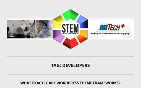 Screenshot of Developers Page mitechplus.com - developers Archives - MITECH+ - captured Oct. 18, 2017