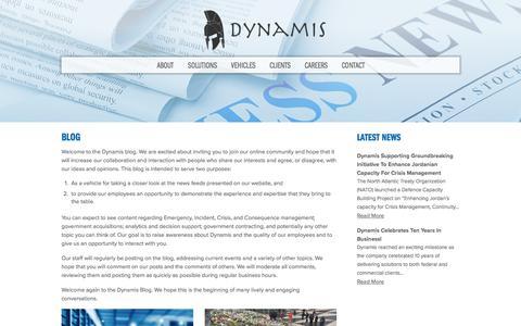 Screenshot of Blog dynamis.com - Blog | Dynamis - captured March 17, 2018