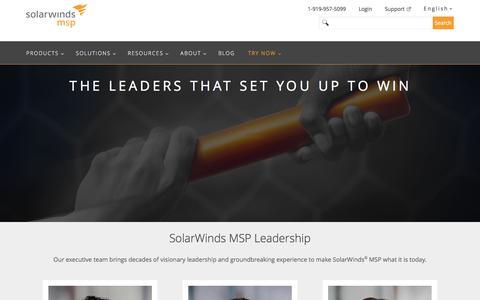Leadership Team | SolarWinds MSP