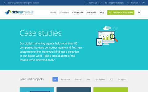 Screenshot of Case Studies Page ecompanysolutions.com - Section: Case Studies | eCompany Solutions, Inc. - captured Oct. 3, 2014
