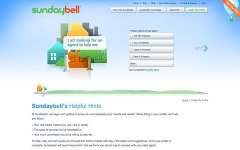 Screenshot of Signup Page sundaybell.com - Homebuyer & Seller Signup   Sundaybell - captured Oct. 3, 2014