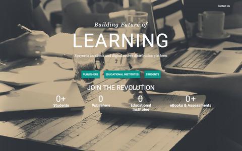 Screenshot of Home Page spayee.com - Spayee | eBook and digital Course Distribution Platform - captured Jan. 11, 2016